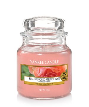 Sun Drenched Apricot Rose,  Small Jar, Yankee Candle