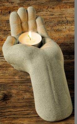 """Ljushållare, """"Mudra"""", Vänster hand"""