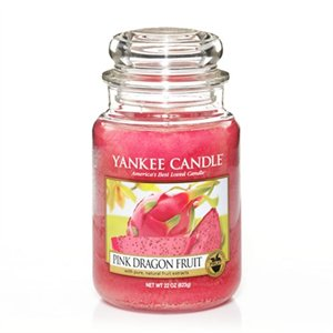 Pink Dragon Fruit, Large jar, Yankee Candle