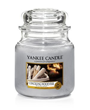 Crackling Wood Fire, Medium Jar, Yankee Candle