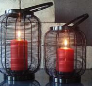 Lanterna, Ribbad Svart, hög