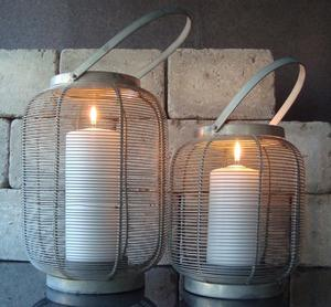 Lanterna, Ribbad Zink, hög