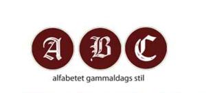 Alfabet gammaldags stil, sigillstämplar