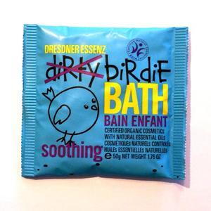 Soothing, blå, ekologiskt badpulver för barn, Dresdner Essenz