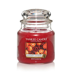 Mandarin Cranberry, Medium jar, Yankee Candle