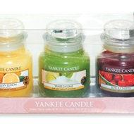 3-pack Gift set Small Jar, Presentförpackning, Black Cherry, Vanilla Lime och Sicilian Lemon, Yankee Candle