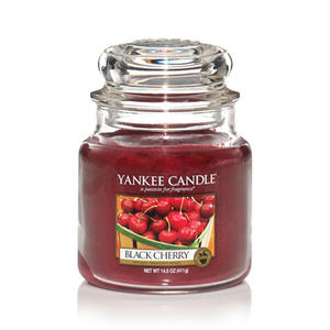 Black Cherry, Medium jar, Yankee Candle