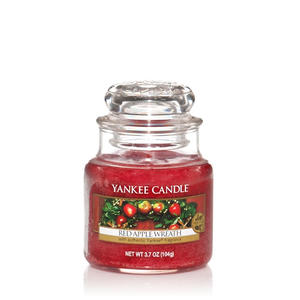 Red Apple Wreath, Small jar, Yankee Candle